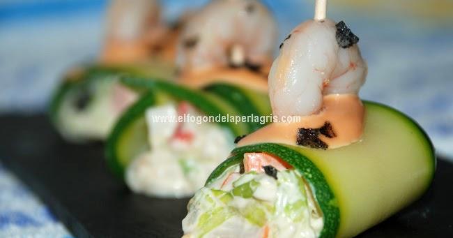 Canelones de calabac n rellenos de salpic n de marisco for Canelones de pescado y marisco