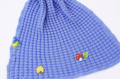4 - Crochet, imagen linda sencilla cobija a relieve. Majovel Crochet