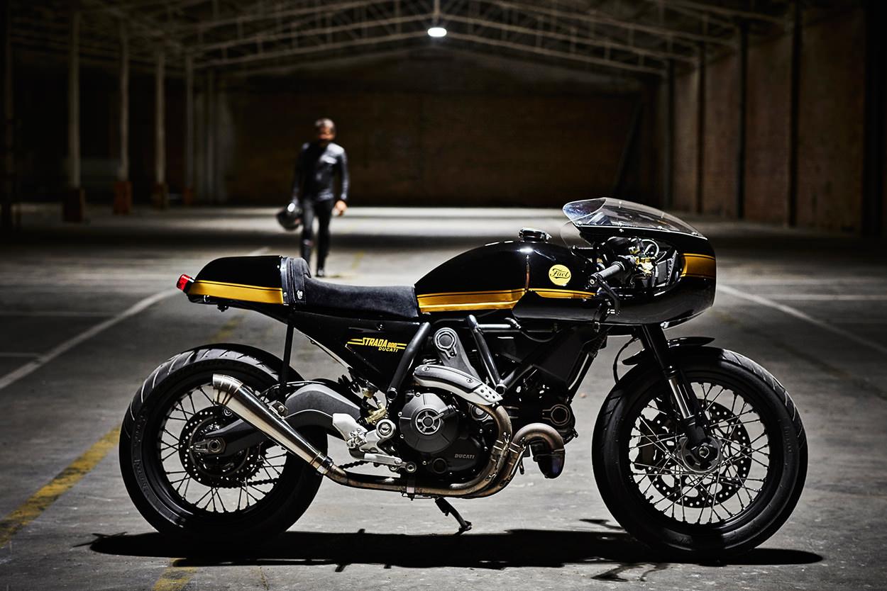 racing caf ducati scrambler strada 800 by fuel bespoke motorcycles. Black Bedroom Furniture Sets. Home Design Ideas