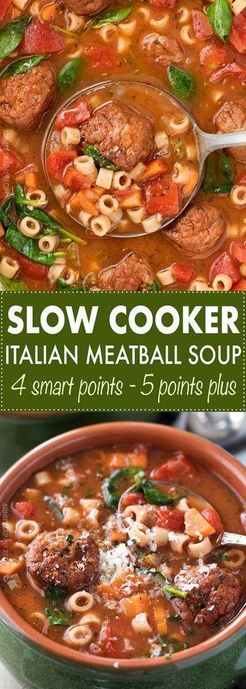 Slow Cooker Italian Meatball Soup Kathleen S Food