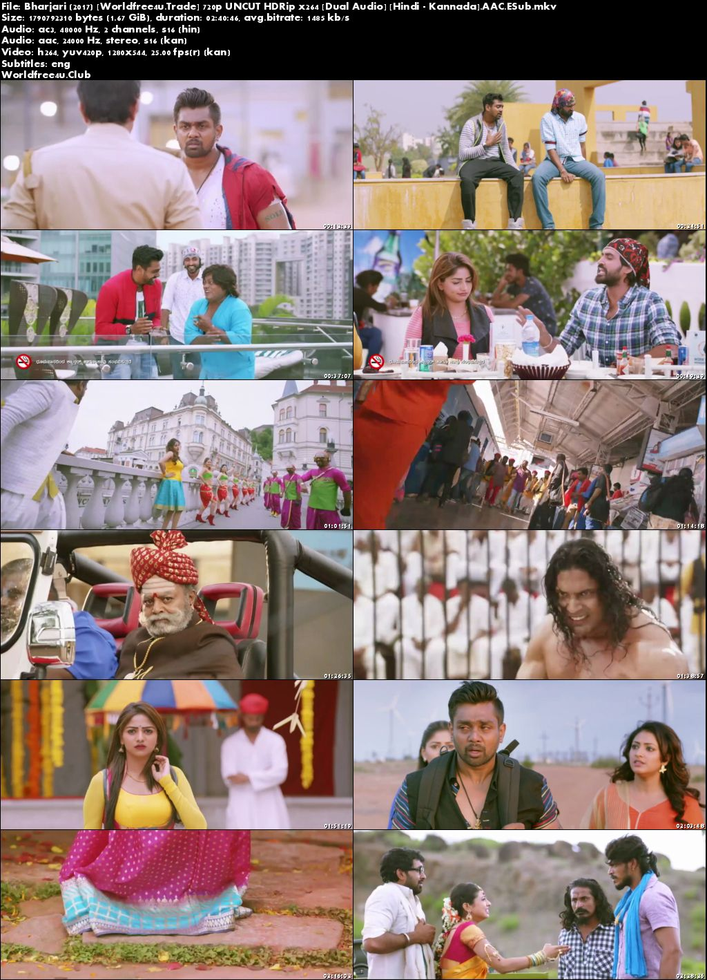 Screen Shoot of Bharjari 2017 Hindi Dubbed Movie Download  720p Dual Audio UNCUT