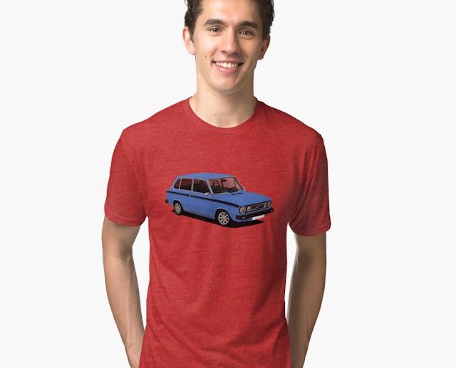 Retro DAF 66 1300 Marathon Combi - t-shirt