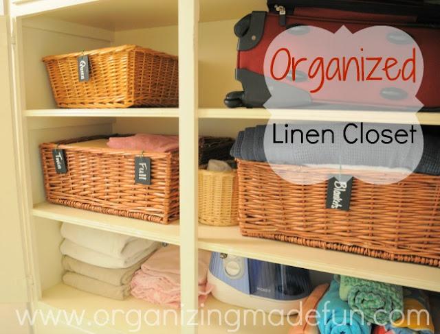 Labeling baskets :: OrganizingMadeFun.com