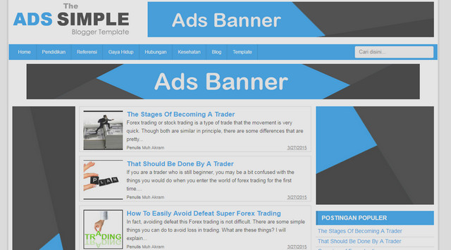 Ads Simple Responsive Blogger Templates