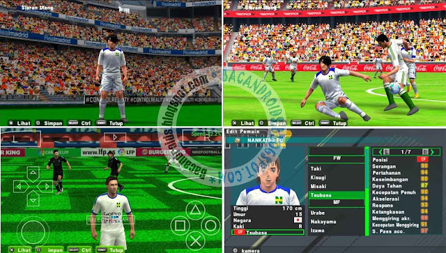 Update PES 2017 Patch Texture Savedata Tsubasa Nankatsu FC ISO For PSP Emulator Android/PC
