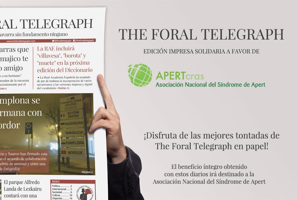 ¡Disfruta de las mejores tontadas de The Foral Telegraph en papel!