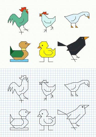 PUERTAS A LA IMAGINACIÓN: Dibujos en cuadrícula