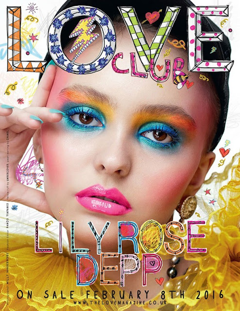Actress, Model, @ Lily Rose Depp LOVE Magazine Spring/Summer 2016