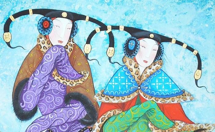 Монгольский художник. Заясайхан Самбуу 10