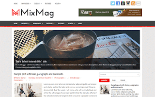 mixmag blogger template responsive