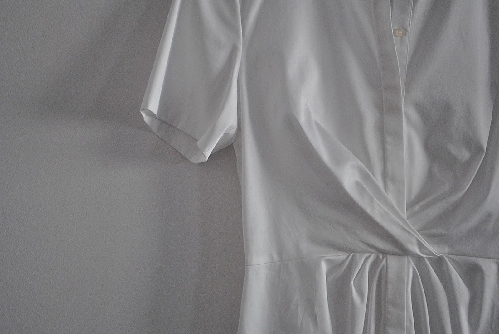biała bluzka koszulowa Hugo Boss