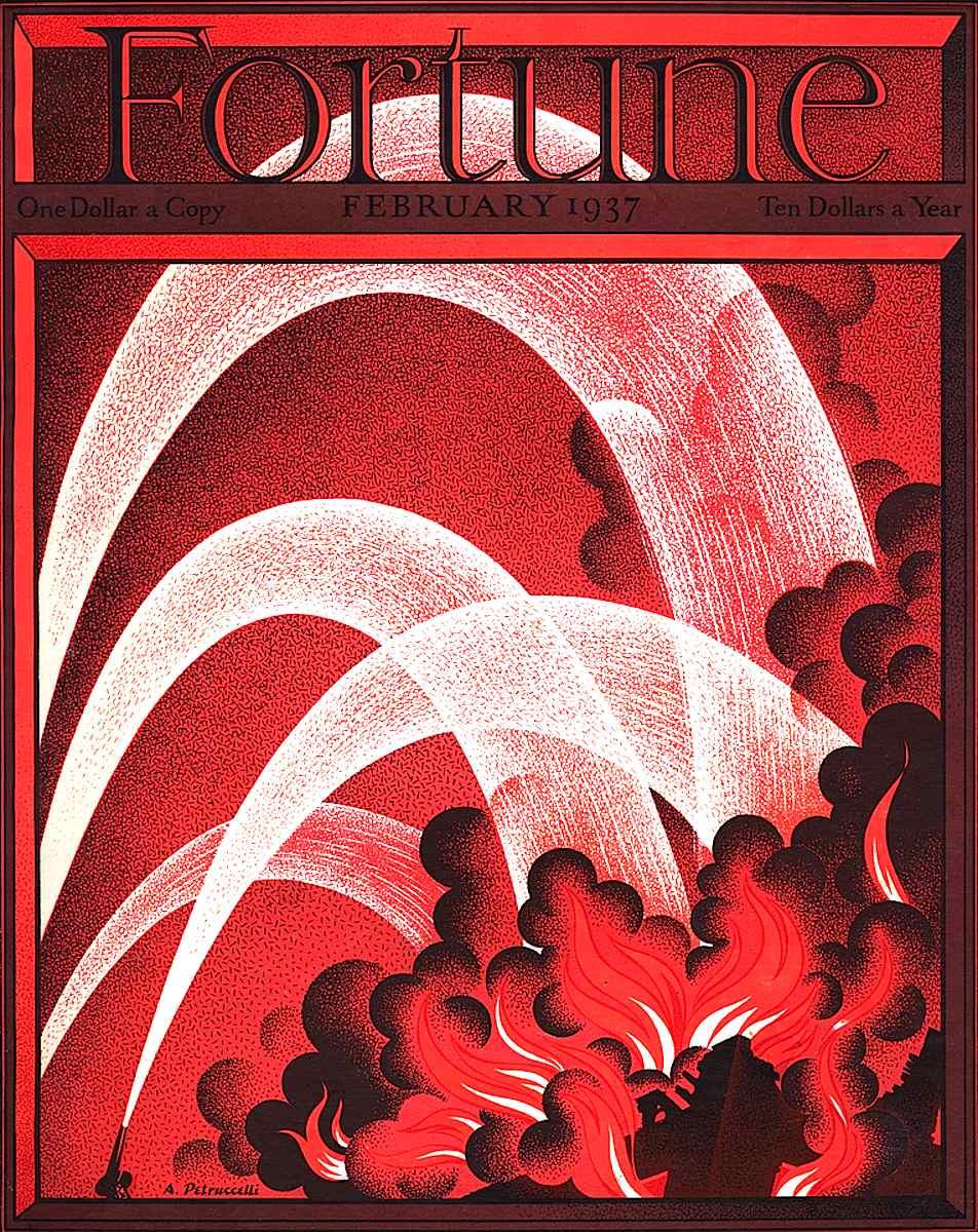An Antonio Petrucceli cover illustration for Fortune Magazine 1937