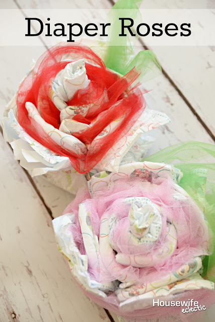 Housewife Eclectic Baby Shower Diaper Roses