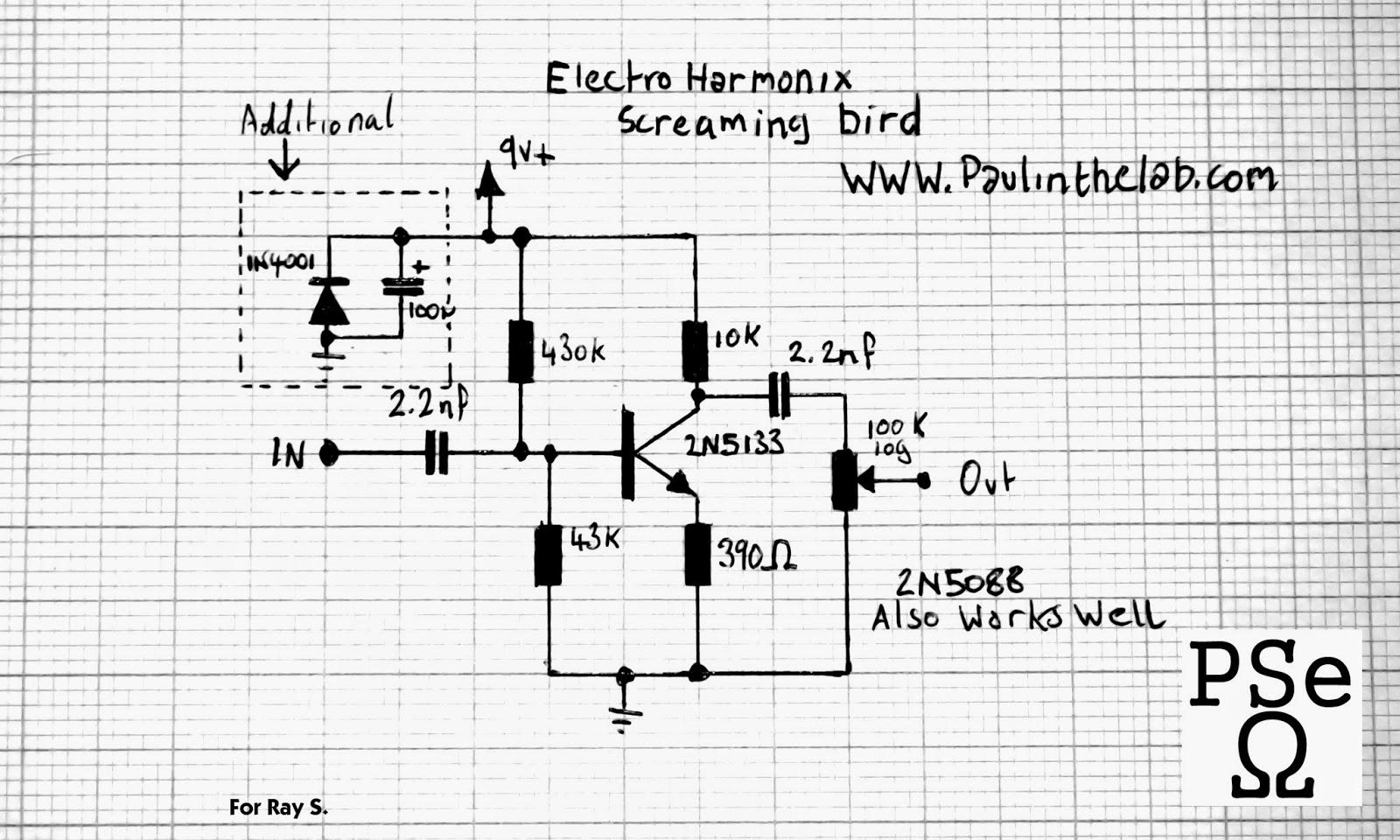 paul in the lab electro harmonix screaming bird treble booster stripboard veroboard layout. Black Bedroom Furniture Sets. Home Design Ideas