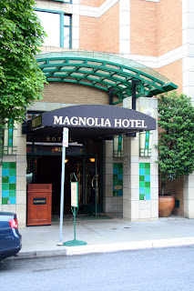 Entrance to the Magnolia Hotel, Victoria BC