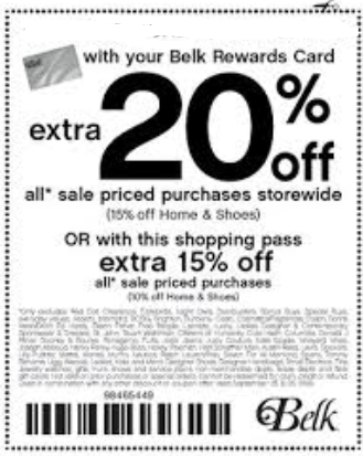 Belks coupon code
