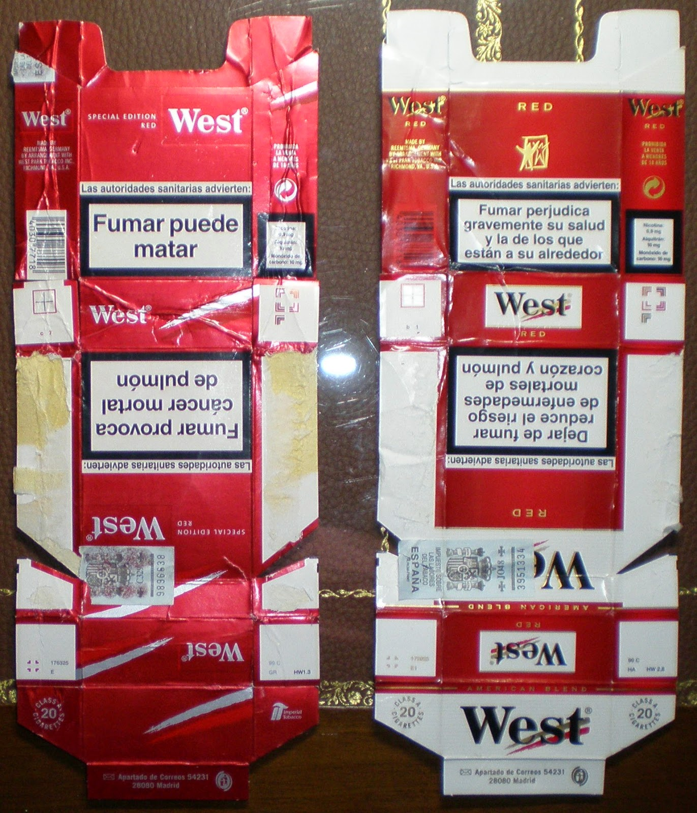 Cajetillas, paquetes de tabaco de coleccionismo eBay
