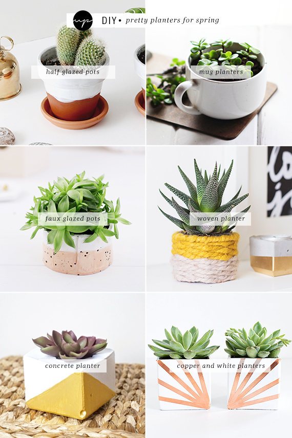 DIY: Pretty planters for spring