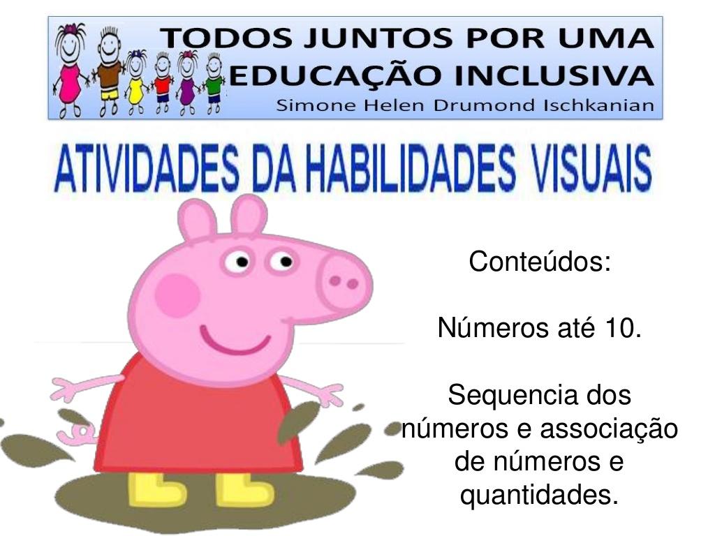 Preferência Atividades com números educação infantil. - Peppa Pig Jogos CS57