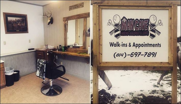 Man Cave Store Greensburg Pa : Solomon s words for the wise man cave barbershop now open