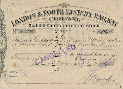 share in the London and North Eastern Railway Company (LNER)