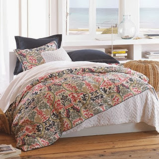 Peacock Alley Catalina Duvet Cover, King, Coral