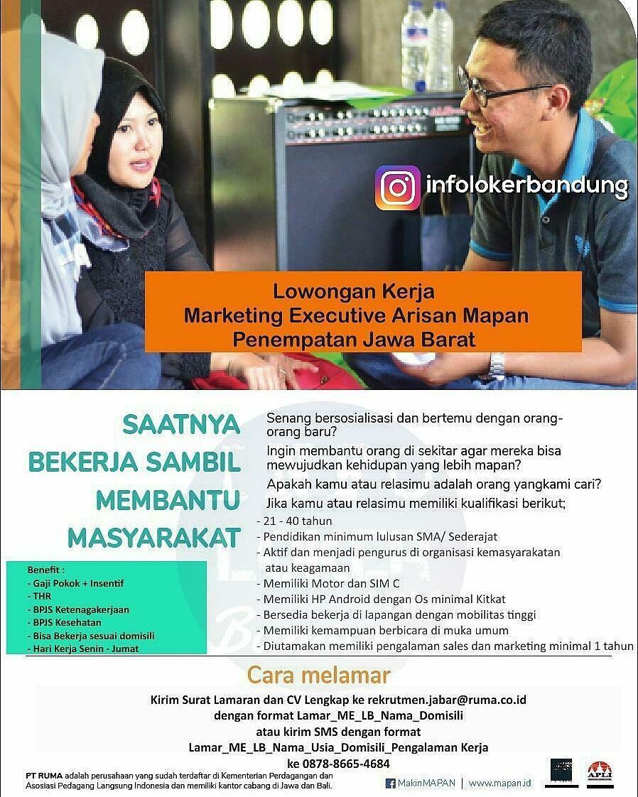 Lowongan Kerja PT. Ruma ( Rekan Usaha Mikro Anda ) Bandung November 2017
