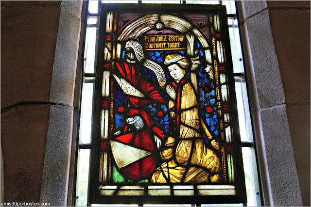 Vidriera de la Habitación Medieval del Castillo Hammond, Gloucester