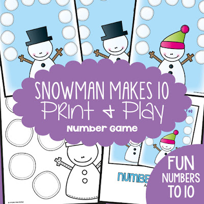 Winter Addition Game Snowman