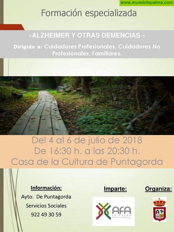 """Formación especializada sobre """"Alzheimer y otras demencias""""  en Puntagorda"""