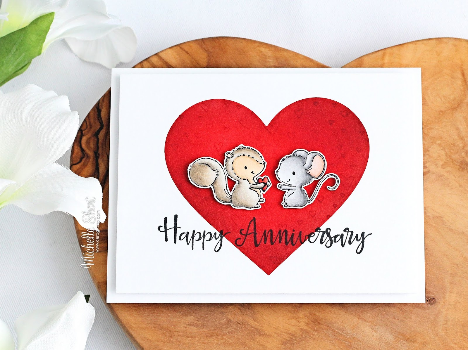 the card grotto anniversary heart
