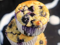 Blueberry Oatmeal Greek Yogurt Muffins
