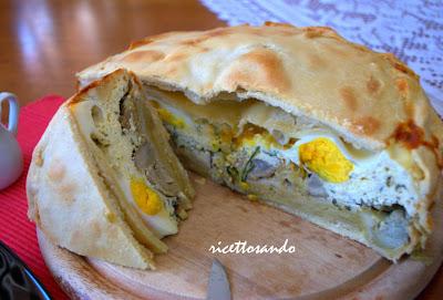 Torta pasqualina ricotta e carciofi ricetta ligure di Pasqua