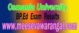 Osmania University BP.Ed 1st Year 1st Sem Exam Results