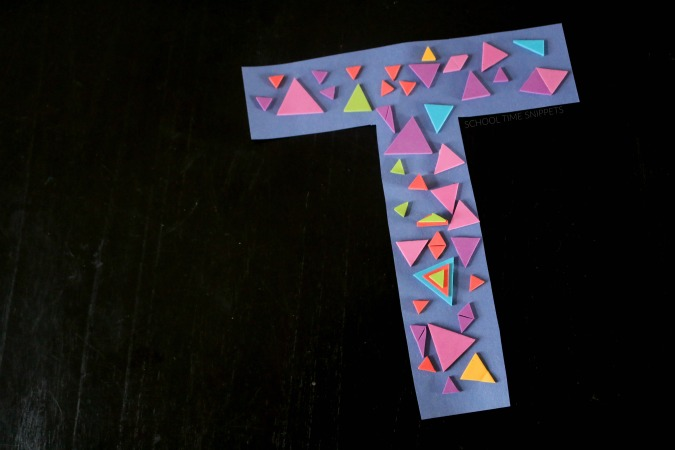 letter t alphabet craft