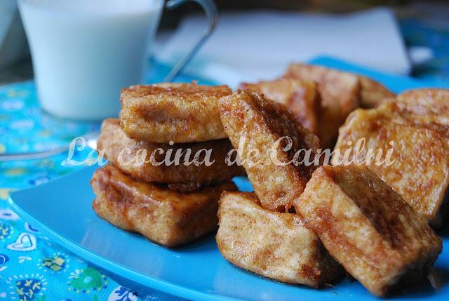 Leche frita de turrón (La cocina de Camilni)