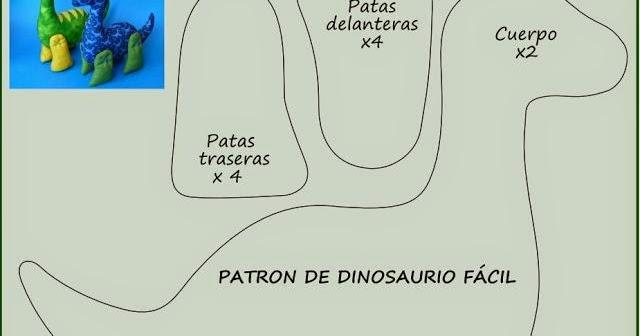 Arte Com Quiane Paps E Moldes De Artesanato Molde Dinossauro