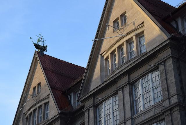 model ship on roof, munich