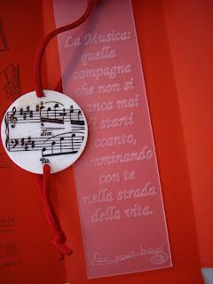 regalo insegnante UOMO segnalibro inciso personalizzato maestro musica