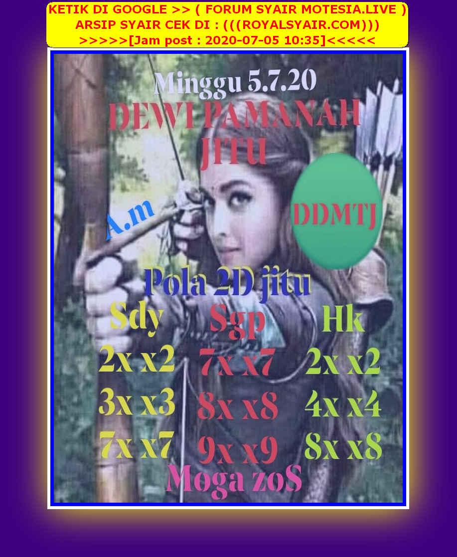 Kode syair Hongkong Minggu 5 Juli 2020 109