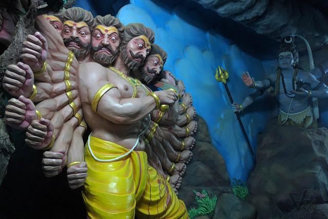Ravana and Shiva, Murudeshwara museum