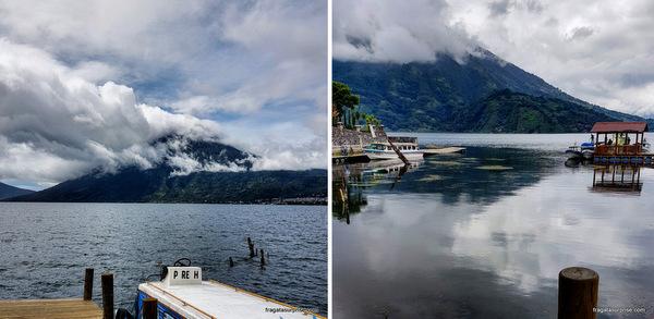 Vulcão San Pedro no Lago de Atitlán, Guatemala