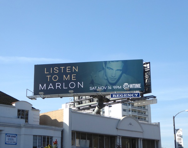 Listen to me Marlon documentary billboard