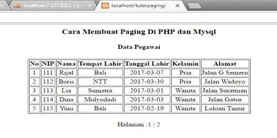 Cara Membuat Paging Dengan PHP dan Mysql