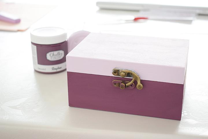 Étape 1 - DIY customisation d'une boîte à thé