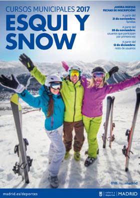 Inscripción a los Cursos de Esquí y Snow  2017 desde el 21 de  noviembre,