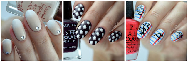 Delicate nude gradient 3D polka dots note book nails