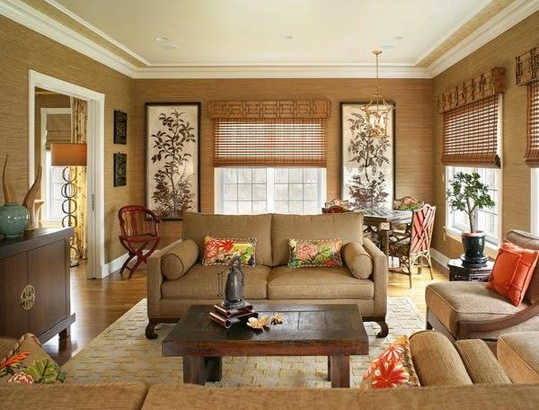 d corations salons en beige et marron d coration salon. Black Bedroom Furniture Sets. Home Design Ideas