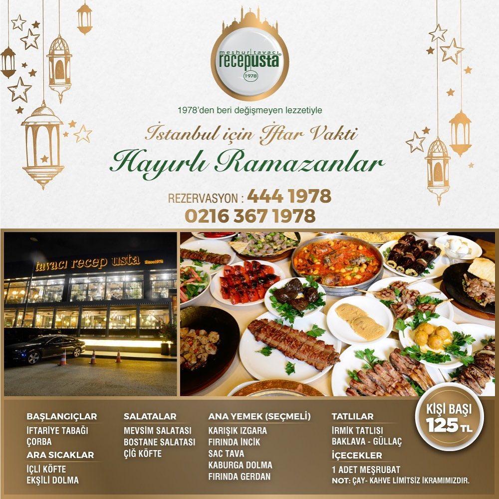 tavacı recep bostancı iftar menüsü bostancı iftar mekanları bostancı iftar yerleri bostancı iftar fırsatları