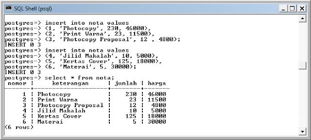 Kelas Informatika - Input Data Nota